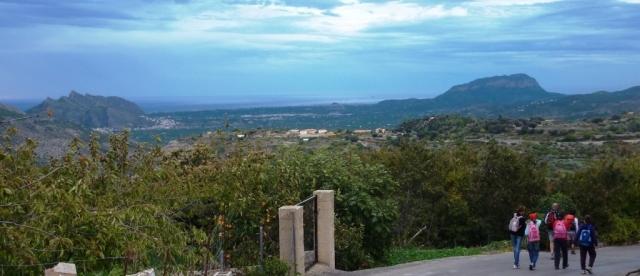 volviendo al punto de partida FLEIX. disfrutando de las vistas del Montgó y la Sierra de Segaria