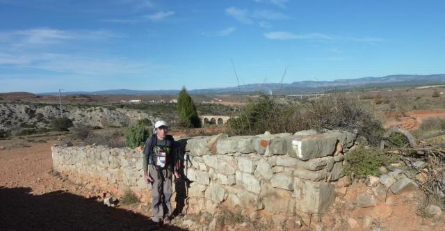 Pasamos por encima de la Vía Verde del tren minero de la Sierra Menera o de Ojos Negros.